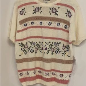 Alfred Dunner Shortsleeved Sweater size XL